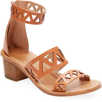 Soludos Cut-Out Leather Strap Sandal