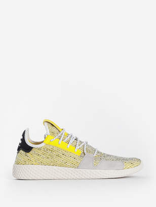 adidas BY PHARRELL WILLIAMS YELLOW AFRO TENNIS HU V2 SNEAKERS