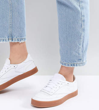 Reebok Classic Club C 85 Trainers In White And Gum 3bdb2fc3f