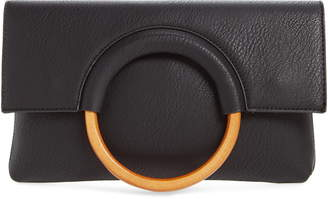 BP Faux Leather Circle Clutch
