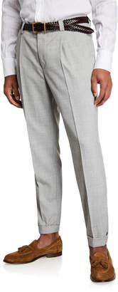 Brunello Cucinelli Men's Wool Dress Pants
