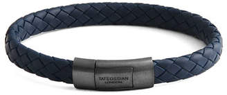 Tateossian Men's Rubber Braided Bracelet, Size M
