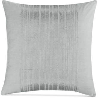 "Calvin Klein Acacia 18"" Square Silver Stripes Decorative Pillow Bedding"