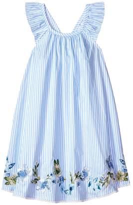 Mud Pie Embroidered Ruffle Sun Dress Girl's Dress