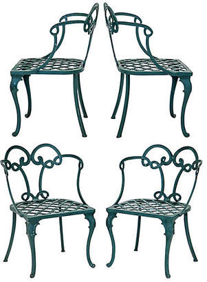 One Kings Lane Vintage Looped Back Patio Chairs - Set of 4 - Janney's Collection