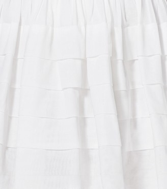 Michael Kors Tiered Cotton-Organdy Mini Skirt