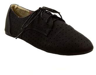 BLUE SUEDE SHOES Blue Women's Sondra Perforated Oxford Shoes