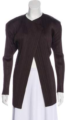 Pleats Please Issey Miyake Pleated Open Front Jacket