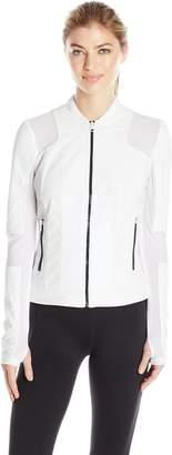 Blanc Noir Women's Run Moto Bomber Jacket
