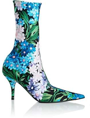 Balenciaga Women's Knife Tech-Jersey Ankle Boots