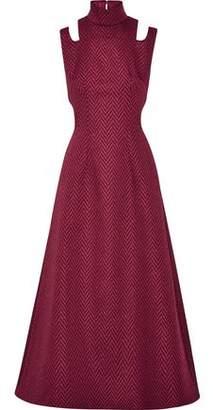 Emilia Wickstead Danielle Cutout Cloqué Midi Dress