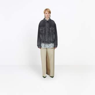 Balenciaga Boyfriend oversized jacket with back embossed logo