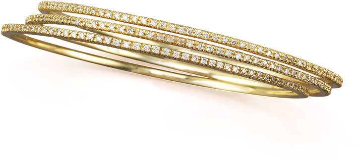 KC Designs Diamond Slip-On Bangle, 14k yellow gold