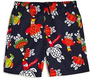 Vilebrequin Boys' Jam Sweater Turtle Swim Trunks - Big Kid