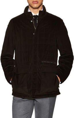 Canali Woven Stand Collar Jacket
