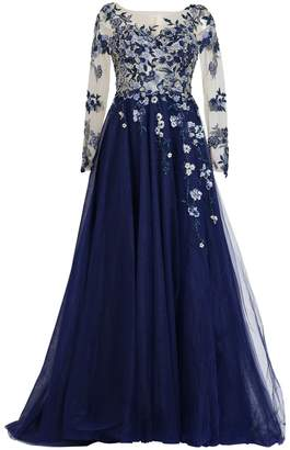 Couture MATSOUR'I - Haute Gown Charleen Blue
