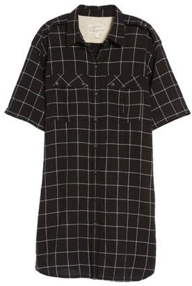 Women's Current/elliott The Workwear Windowpane Shirtdress $228 thestylecure.com