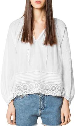 Zadig & Voltaire Theresa Lace-Trimmed Tunic