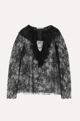 74eb38a8b300 Philosophy di Lorenzo Serafini Ruffled Lace Blouse - Black