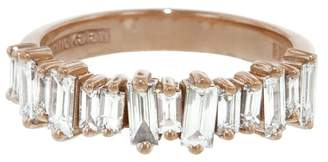 Suzanne Kalan Classic Half Eternity Band Ring - Rose Gold
