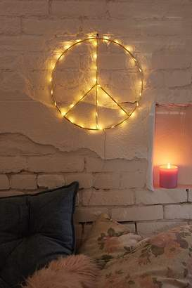 Urban Outfitters Peace Sign Light Sculpture