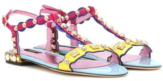 Dolce & Gabbana Studded patent leather sandals
