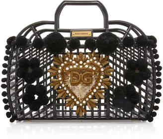Dolce & Gabbana Embellished PVC Cage Tote