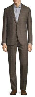 Caruso Checkered Wool Suit