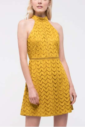 Blu Pepper Sleeveless Halter Lace Dress