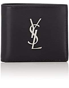 Saint Laurent Men's Monogram Leather Billfold - Black
