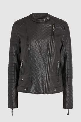 Next Womens Black PU Jacket