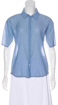 J Brand Short Sleeve Button-Up Top