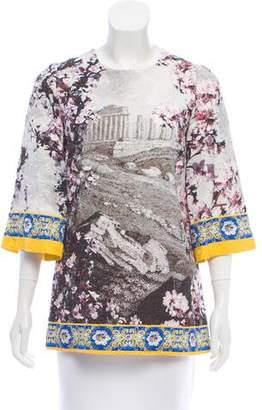 Dolce & Gabbana Long Sleeve Jacquard Top