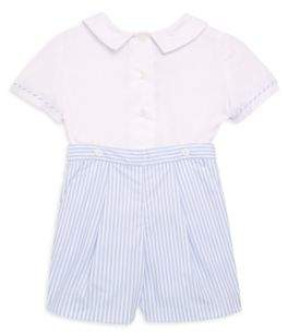 Luli and Me Baby's and Toddler's Two-Piece Top and Striped Short Set