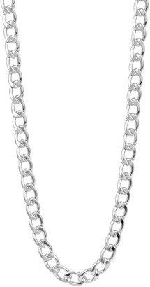 Men's Stainless Steel Round Curb Chain Necklace