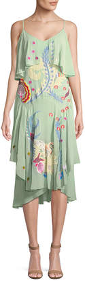 Temperley London Chimera Mixed Print Ruffle Dress