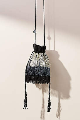 From St. Xavier Milan Fringed Drawstring Bag