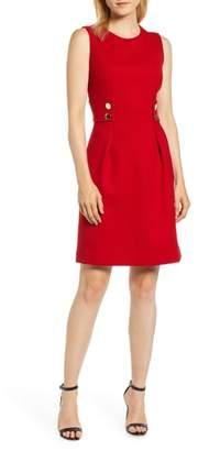Anne Klein Button Detail Fit & Flare Dress