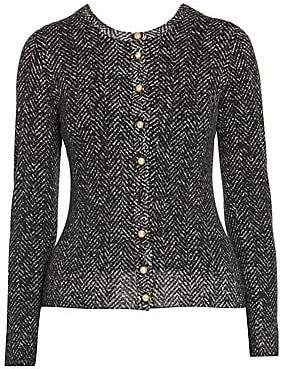 Dolce & Gabbana Women's Herringbone Knit Wool Cardigan