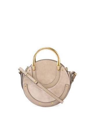 Chloe Pixie Small Round Double-Handle Shoulder Bag $1,490 thestylecure.com