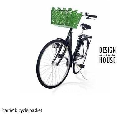Design House Stockholm - 'carrie' bicycle basket by dhs