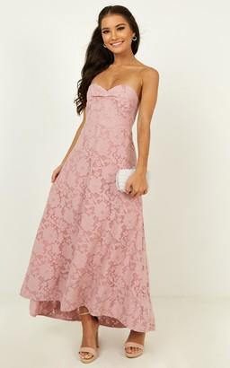 Showpo Show me the light dress in blush - 4 (XXS) Bridesmaid