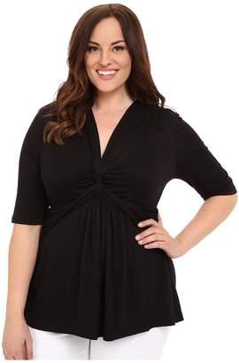 Kiyonna Caycee Twist Top Women's Short Sleeve Pullover