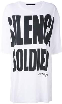 Haider Ackermann 'Silence is Golden' oversize T-shirt