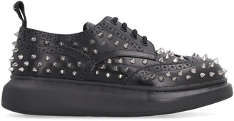 Alexander McQueen Studded Leather Lace-up Brogues