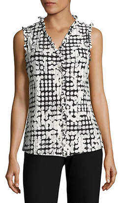 Karl Lagerfeld PARIS Sleeveless Knit Printed Top
