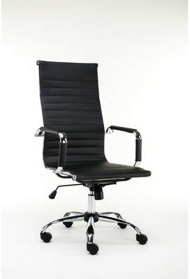 Winport Industries High-Back Leather Desk Chair
