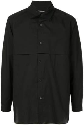Yohji Yamamoto layered collar shirt