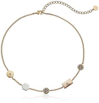 Jules Smith Designs Womens Mixed Shape Chocker Necklace
