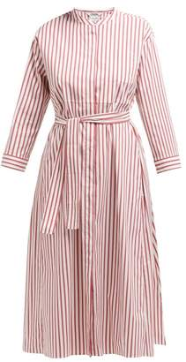 Max Mara S Bebbio Striped Midi Dress - Womens - Red White
